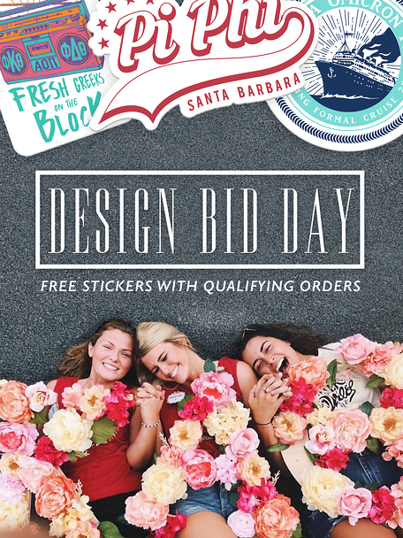 Bid Day Email Insert - Fall 2018 Stickers